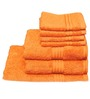 Avira Home Plush Orange Cotton Face Towel - Set of 4