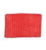 Avira Home Red Cotton Bathmat & Toilet Lid Set