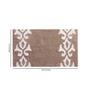 Azaani Beige & Brown Cotton 12 X 24 Bath Mat 1 Pc