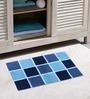 Azaani Blue 100% Cotton Bath Mat - Set of 2