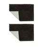 Azaani Brown Cotton Micro Bath Mat - Set of 2