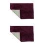 Azaani Purple Cotton Bath Mat - Set of 2