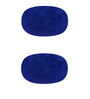Azaani Blue Cotton 24 x 16 Inch Bath Mat - Set of 2