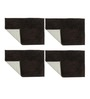 Azaani Brown Cotton Bath Mat - Set of 4