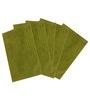 Azaani Chic Green Cotton 24 x 16 Inch Bath Mat - Set of 5