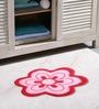 Azaani Floral Pink & Brown 2-piece Bathmat Set
