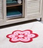 Azaani Floral Pink & Red 2-piece Bathmat Set
