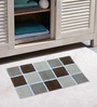 Azaani Micro Beige & Brown 2-piece Bathmat Set