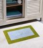 Azaani Micro Green & Red 2-piece Bathmat Set