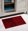 Azaani Micro Maroon & Olive Green 2-piece Bathmat Set