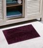 Azaani Micro Purple & Olive Green 2-piece Bathmat Set