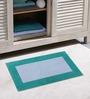 Azaani Teal & Purple 100% Cotton Bath Mat - Set of 2