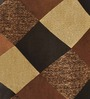 Azaani Brown Polyester 84 x 48 Inch Geometric Eyelet Door Curtain - Set of 2