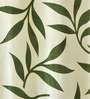 Azaani Green Polyester 84 x 48 Inch Floral Eyelet Door Curtain - Set of 2