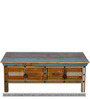 Azealia Coffee Table in Distress Finish by Bohemiana