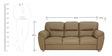 Bari Three Seater in Buff Colour by Furnitech