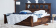 Barryl Queen Bed with Box Storage in Provincial Teak Finish by Amberville