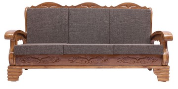 Ballentyne Teak Wood Three Seater Sofa In Natural Teak Finish By Finesse - 1479374