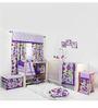 Bacati Botanical Purple 10 CS Crib Set
