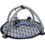 Bacati Elephant Blue Grey Play Gym