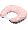 Bacati Emma Aztec Large Triangles Muslin Nursing Pillow in Coral & Navy