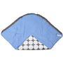 Bacati Grey Dots Blue Grey Baby Wrap