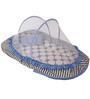 Bacati Grey Dots Blue Grey Mattress with Net Large