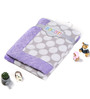 Bacati Grey Dots with Purple Border Baby Blanket