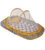 Bacati Grey Dots Yellow Grey Mattress with Net Large
