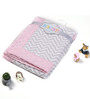 Bacati Grey ZigZag with Pink Border Baby Blanket