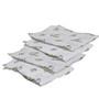 Bacati Happy Monkeys Unisex Muslin Swaddling Blankets in Multicolour (Set of 4)