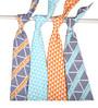 Bacati Liam Aztec Triangles Muslin Swaddling Blankets in Aqua Orange & Navy (Set of 4)