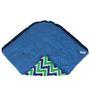 Bacati Navy Green Zigzag Baby Wrap
