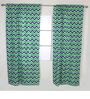 Bacati Navy Green Zigzag Curtain Panel Door  Set of 2 pcs