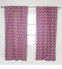 Bacati Navy Red Zigzag Curtain Panel Door  Set of 2 pcs