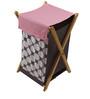 Bacati Pink Pin Dots Grey 10 CS Crib Set
