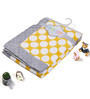 Bacati Yellow Dots with Grey Border Baby Blanket