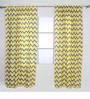 Bacati Yellow Grey Zigzag Curtain Panel Door  Set of 2 pcs
