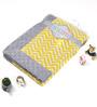 Bacati Yellow ZigZag with Grey Border Baby Blanket
