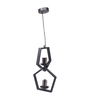 Bandra Flea Market Black Steel Interlock Pendant