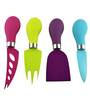 Bar World Set of 4 Colorful Cheese Knives