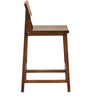 Barcelona Solid Wood Bar Stool in Provincial Teak Finish by TheArmchair