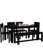 Elkhorn Solid Wood Six Seater Dining Set in Espresso Walnut Finish by Woodsworth