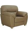 Bari One Seater in Buff Colour by Furnitech
