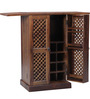 Lancefield Bar Cabinet in Provincial Teak Finish by Amberville