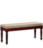 Bergamo Bench in Honey Oak Finish by Amberville
