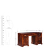 Oregon Study & Laptop Table in Honey Oak Finish by Amberville