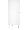 Barry Chest of Drawers in White Colour by Asian Arts