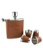 Barworld Brown Color Hip Flask 6 Piece Set