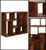 Madison Segmented Solid Wood Book Shelf in Provincial Teak Finish by Woodsworth